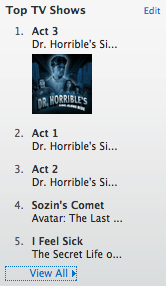 Dr. Horrible tops the iTunes download charts