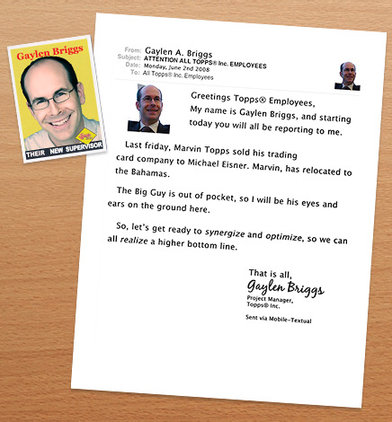 Memo from Gaylen Briggs - Back on Topps