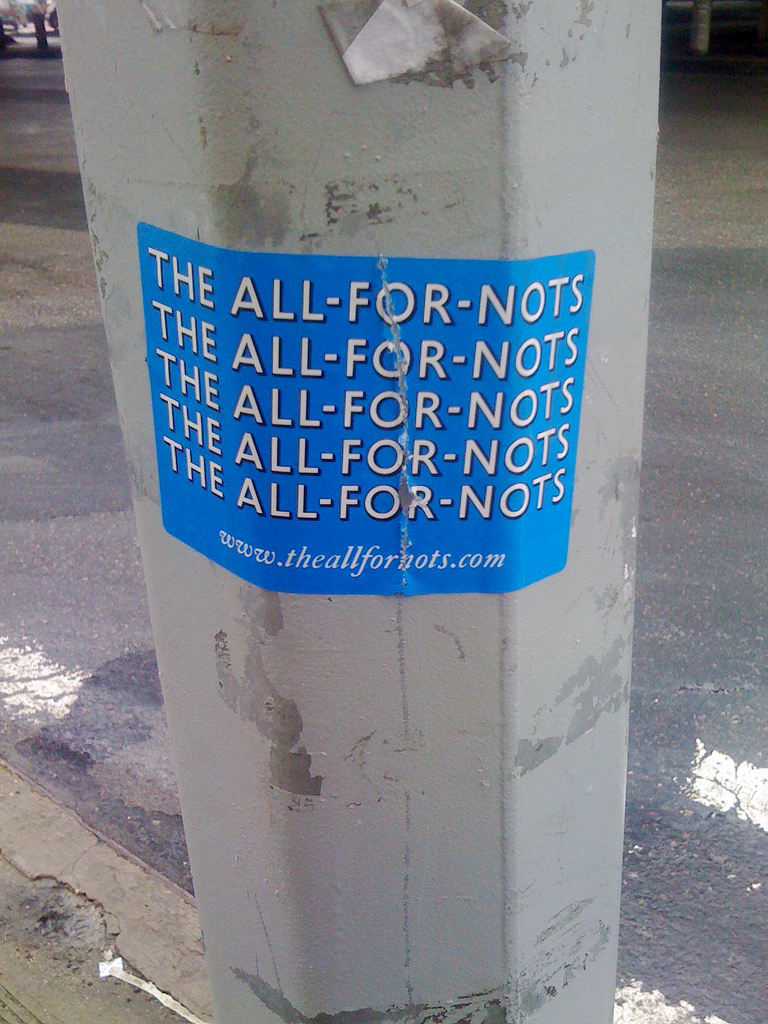 All-For-Nots sticker