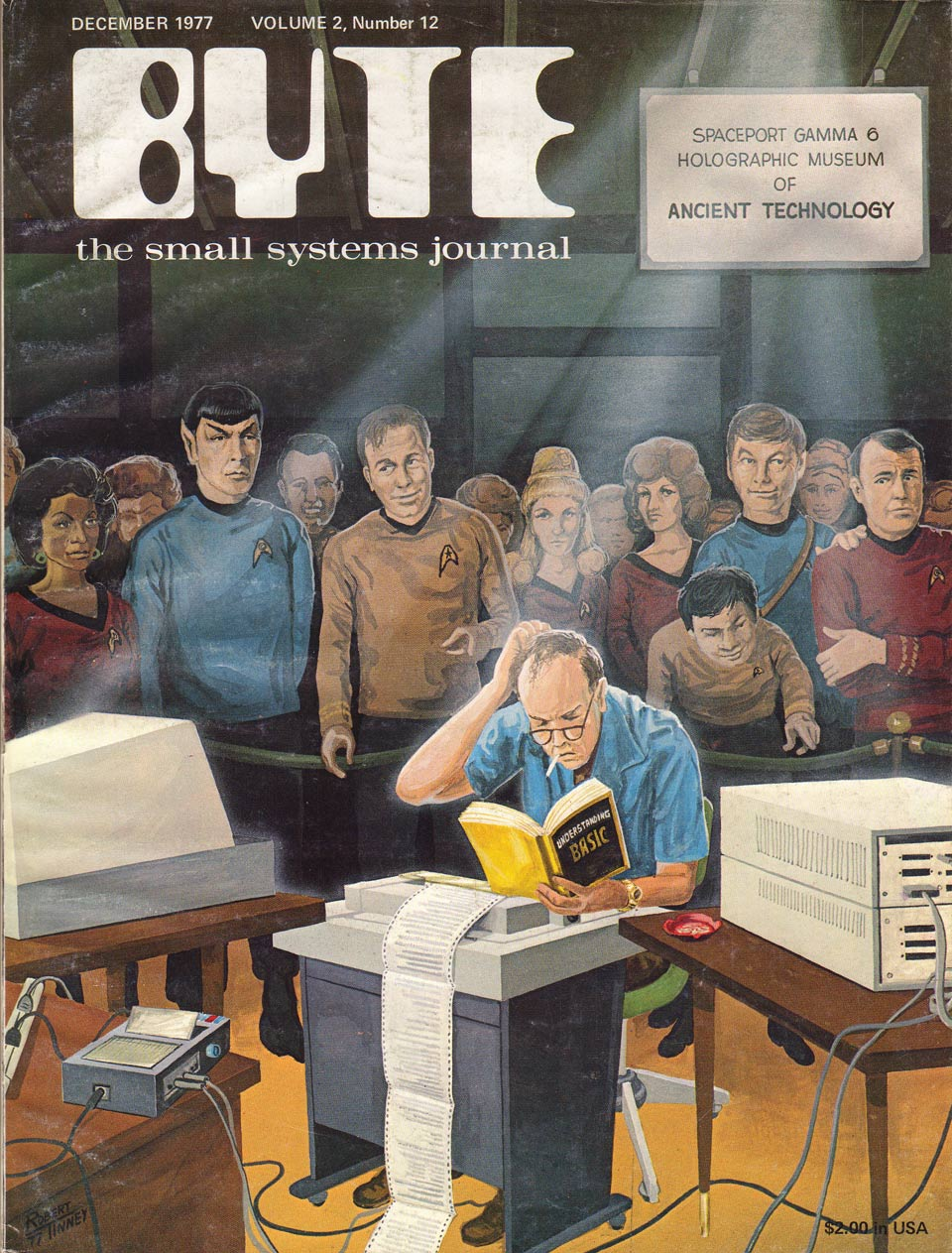 Cover of BYTE magazine - dec 1977