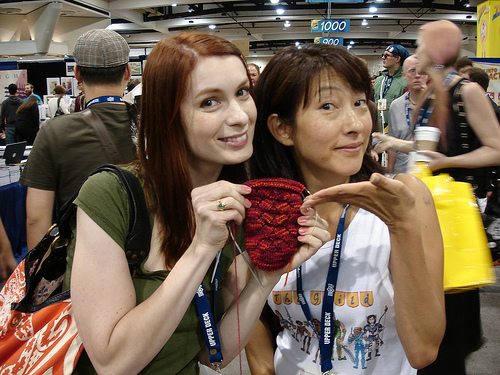 Felicia Day and Kim Evey at Comic-Con