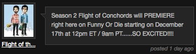 Flight of the Conchords Comment