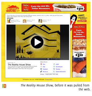 McDonald's The Reality House Show