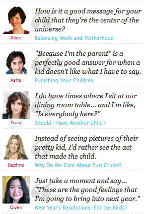 Parenting quotes from Momversation