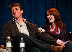 Nathan Fillion and Felicia Day on the Dr. Horrible panel at PaleyFest