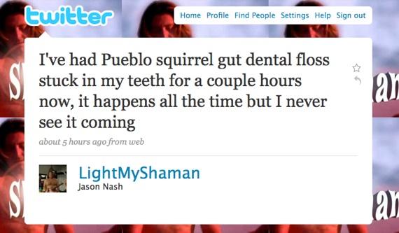 The Shaman on Twitter