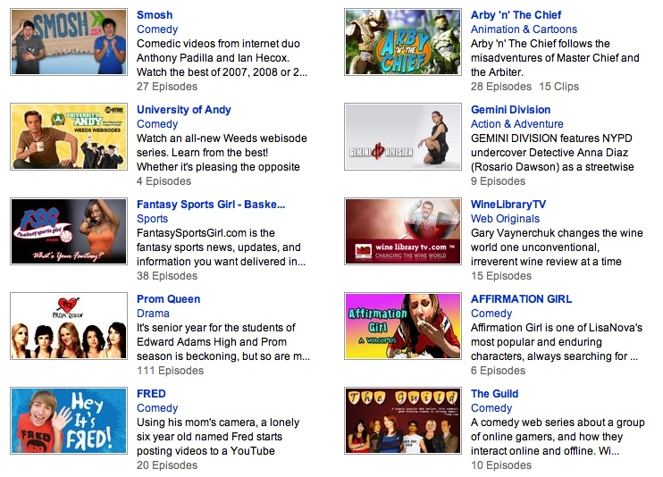 YouTube web originals