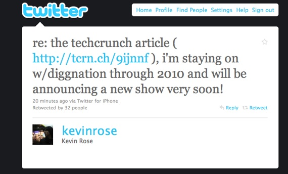 Kevin Rose tweet