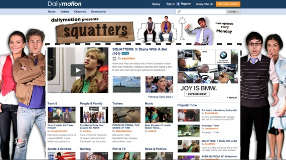 Squatters on Dailymotion