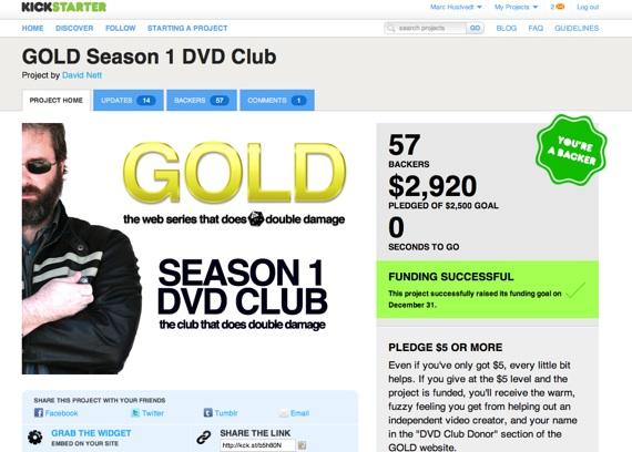 Kickstarter - GOLD