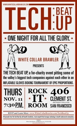White Collar Brawler Tech Beat Up flyer