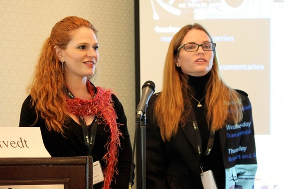 Leyna Weber and Annie Lukowski at Tubefilter Pitch Camp