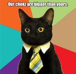 Cheezburger - business cat