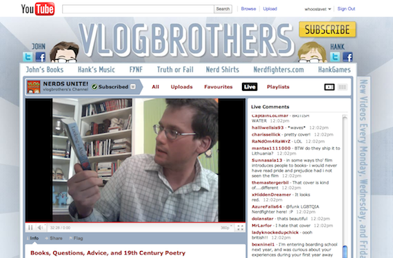 vlogbrothers - live streaming