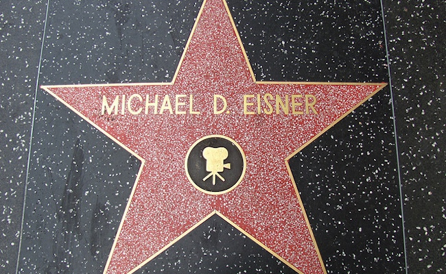 Michael Eisner Star on Hollywood Walk of Fame