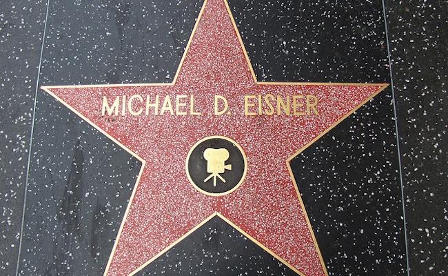 Michael Eisner Star on Hollywood Walk of Fame