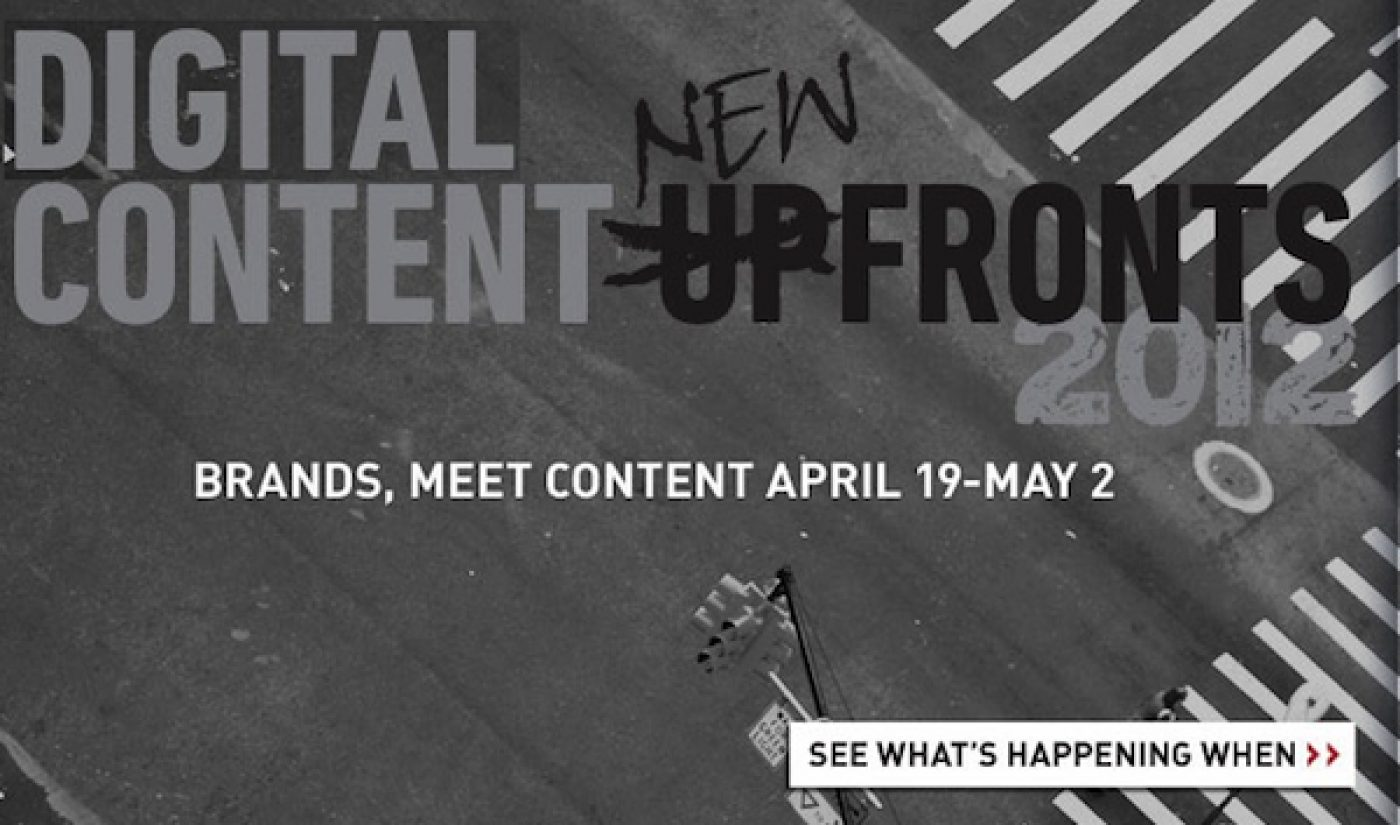 Tubefilter's Complete Guide to The Digital Content NewFronts 2012