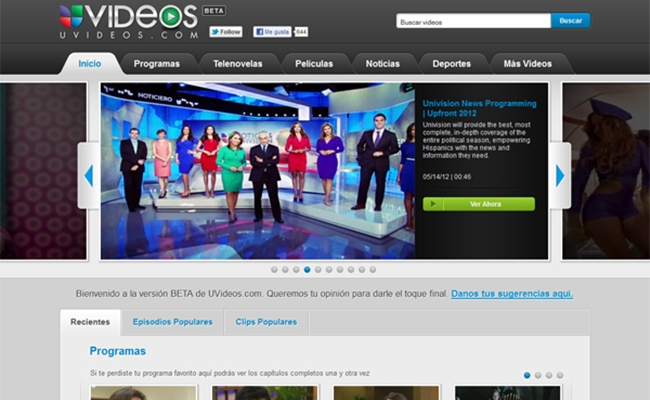 Univision Goes Digital With UVideos, A Bilingual Online Network