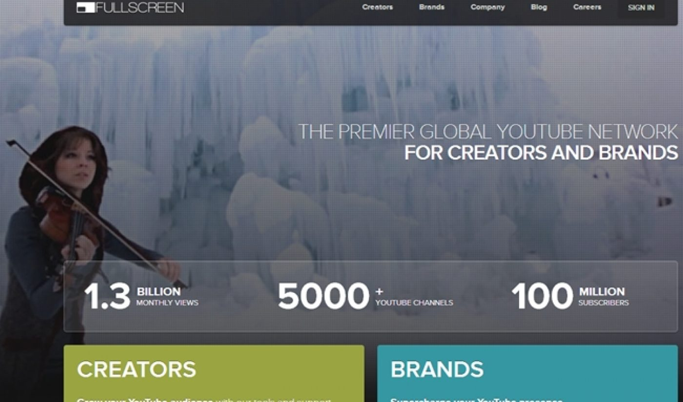 Fullscreen To Spend A Cool Million On Marketing For Smaller Channels