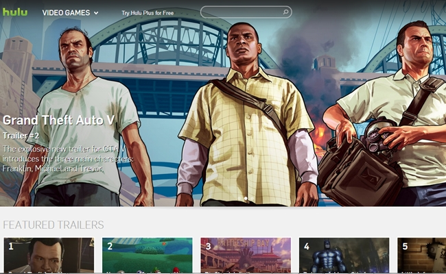 hulu-video-games-home-page