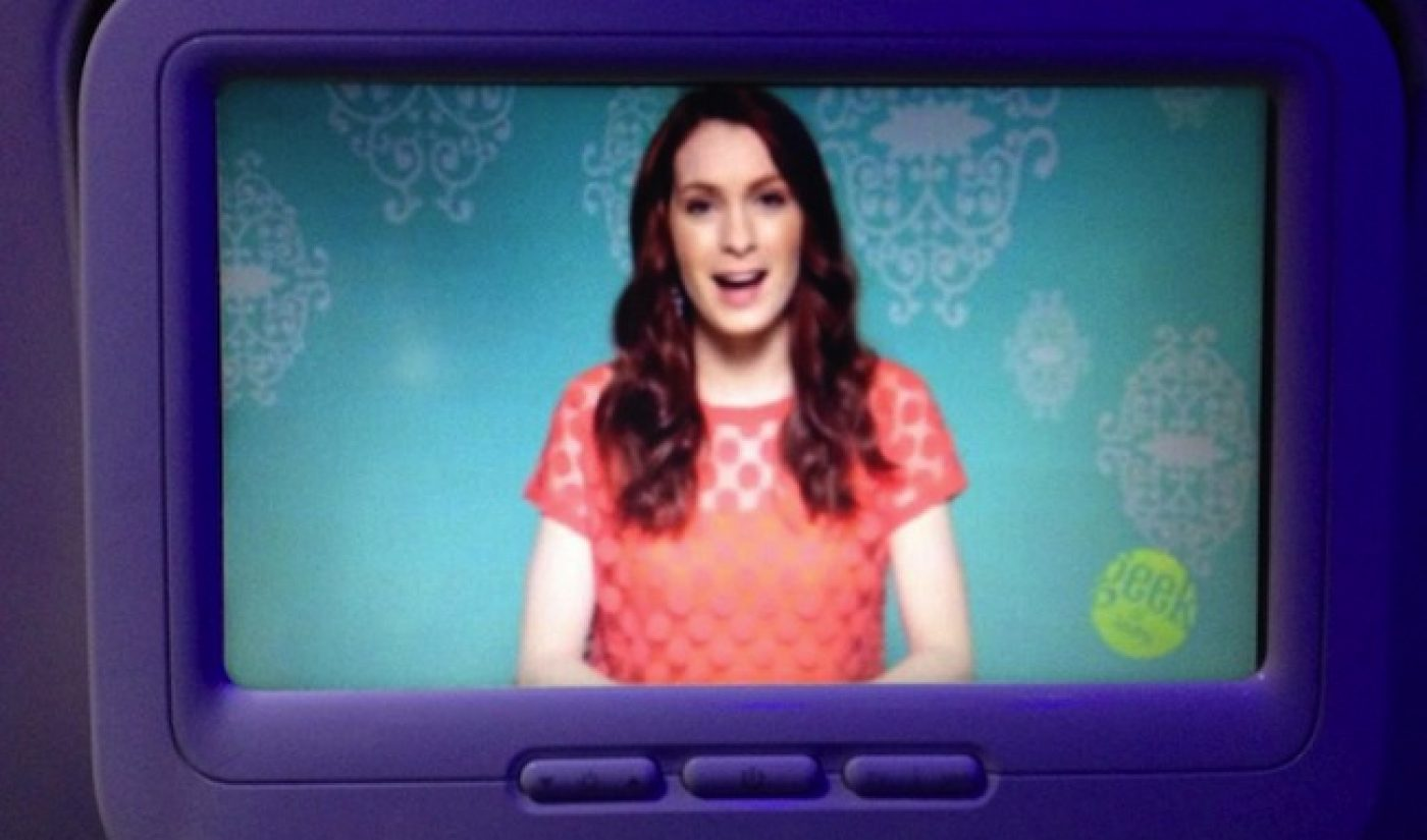 Felicia Day Watches Felicia Day At 30,000 Feet On Virgin America
