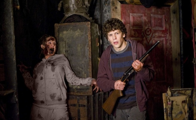 Jesse Eisenberg stars in Columbia Pictures' comedy ZOMBIELAND.
