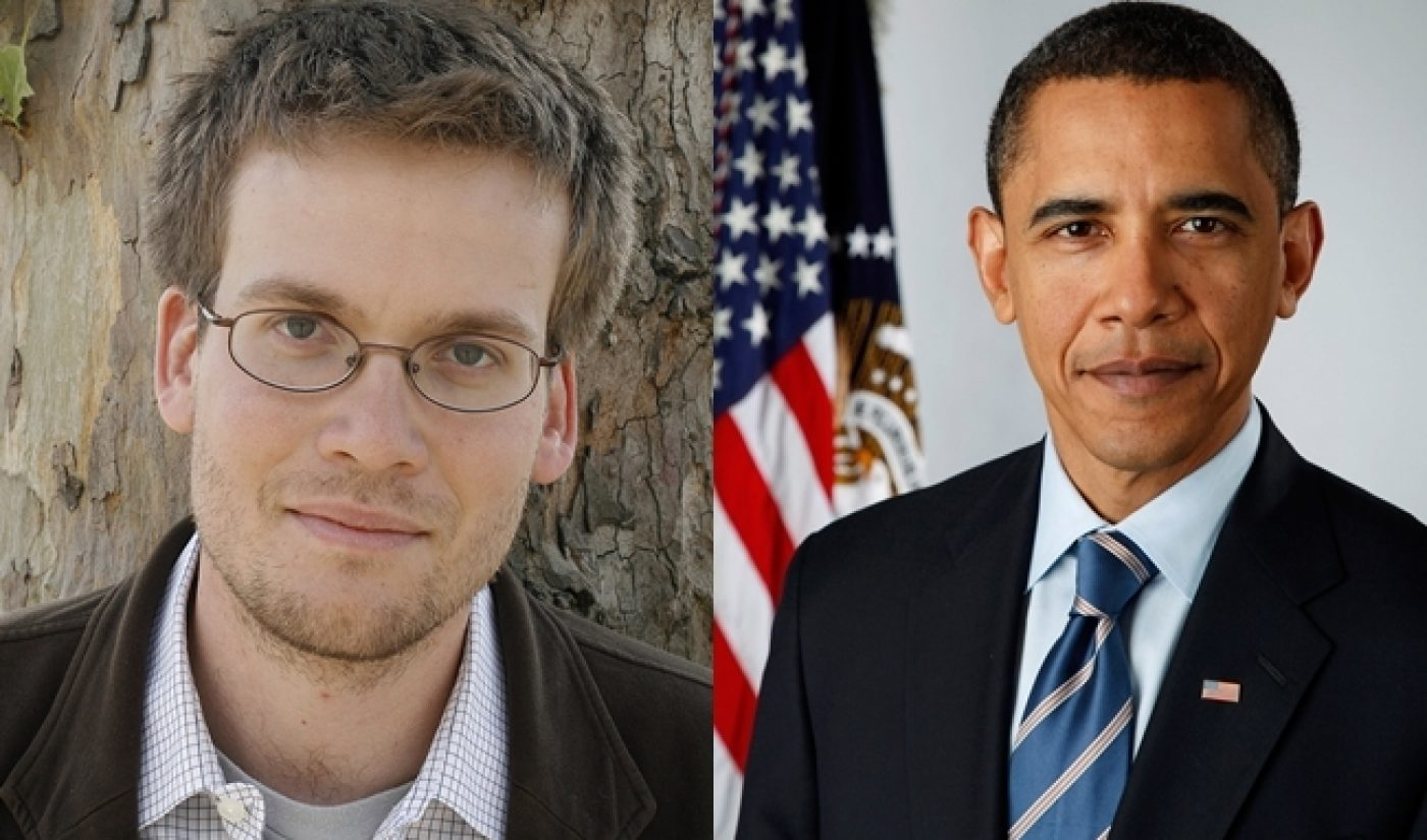 John Green Streaming Live Google Hangout With President Obama