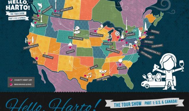 Hannah Hart Unveils Map For US/Canada Leg Of 'Hello, Harto' Tour
