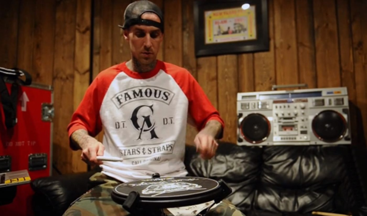 World-Class Drummer Travis Barker Provides Free Lessons On YouTube