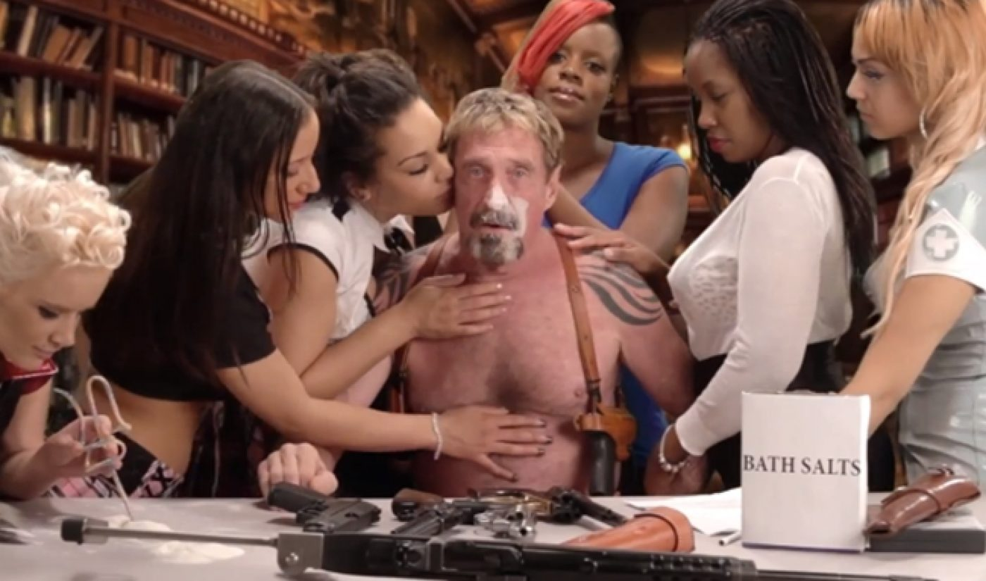 John McAfee's 'Uninstall' Video Further Proves He Is Out Of His Mind