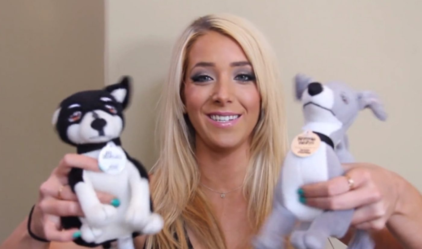 Jenna Marbles Sells Ultra-Cute Plush Toy Versions Of Her Dogs