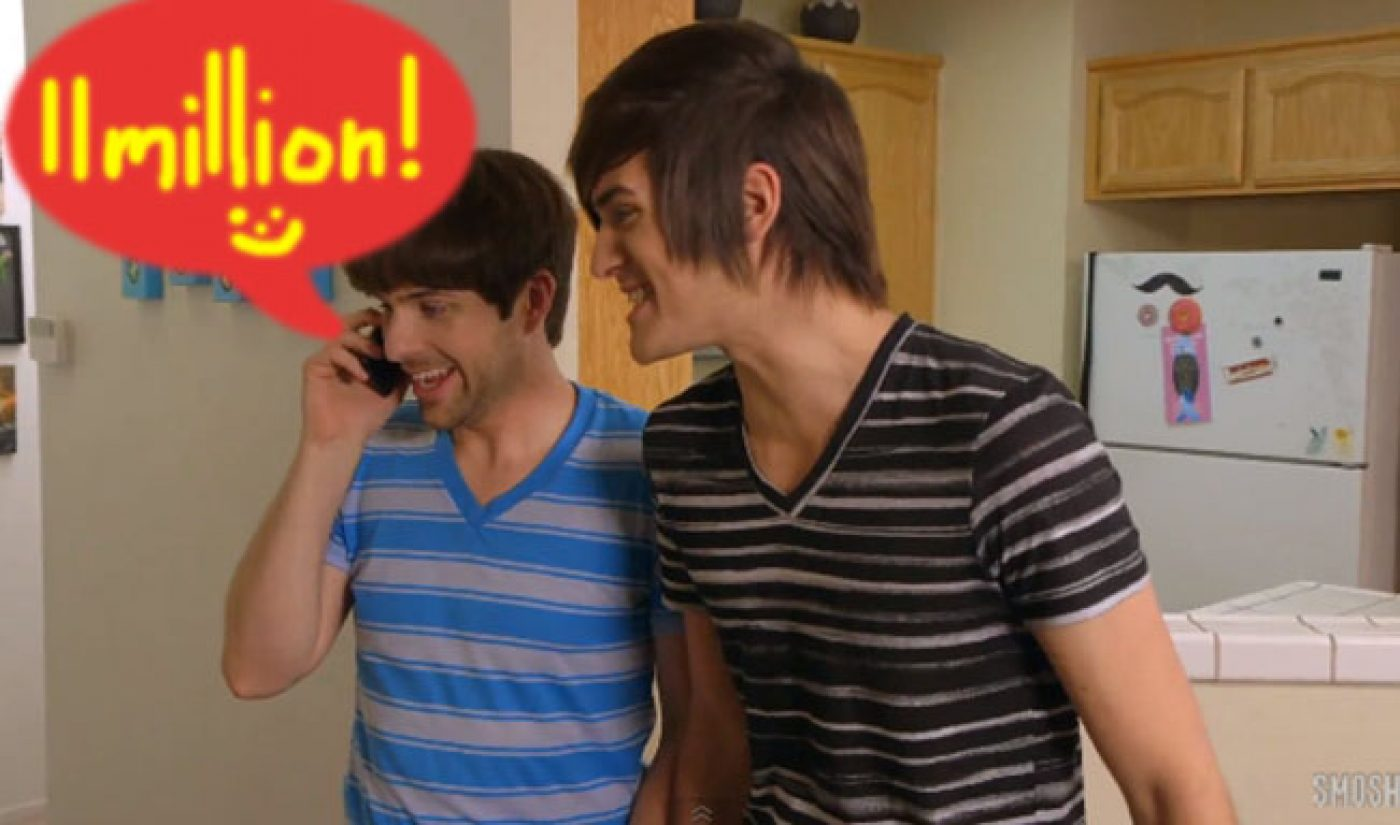 Smosh Hits 11 Million YouTube Subscribers, PewDiePie Hot On Its Heels