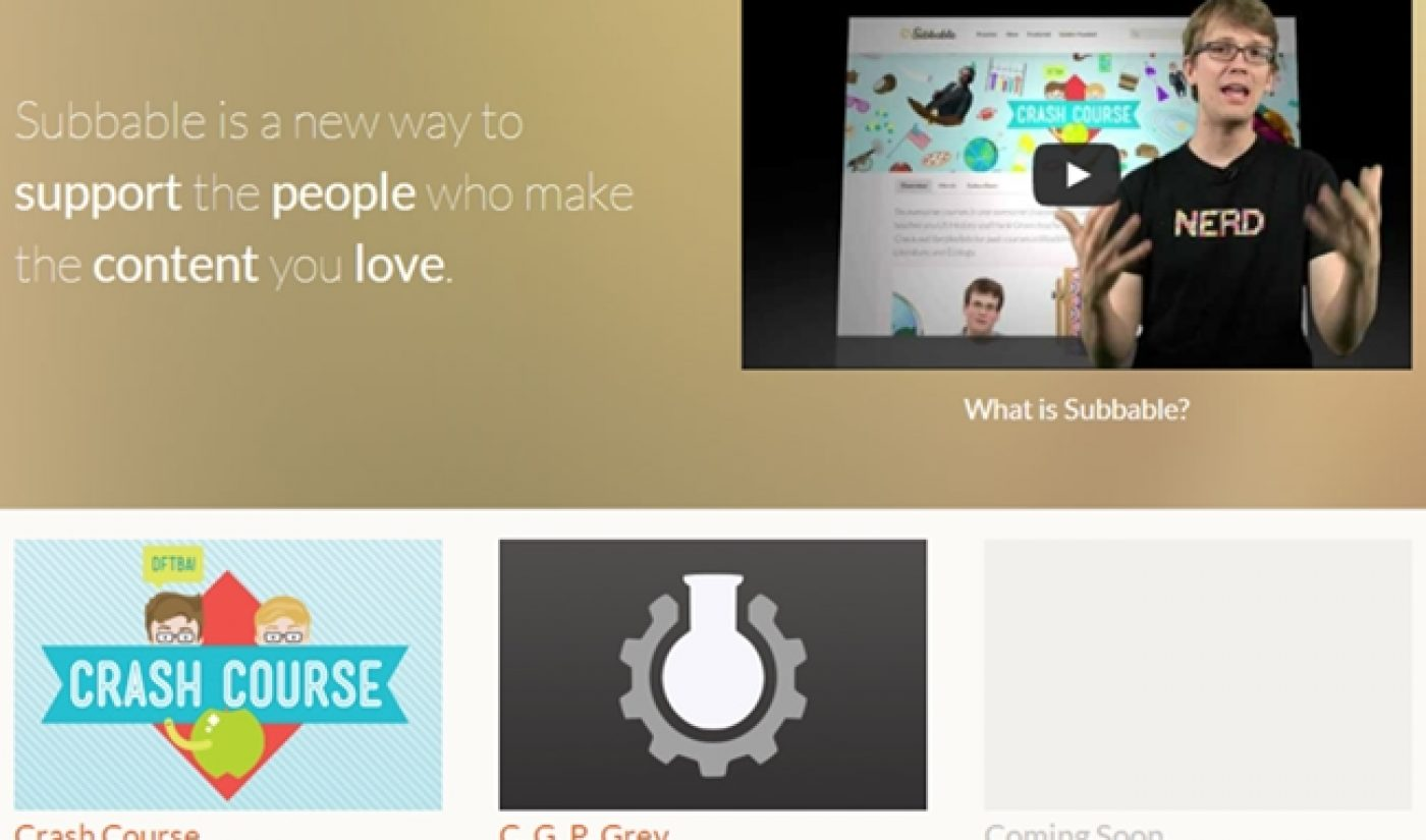 John & Hank Green's Subbable Already Has $30K In Monthly Subscriptions