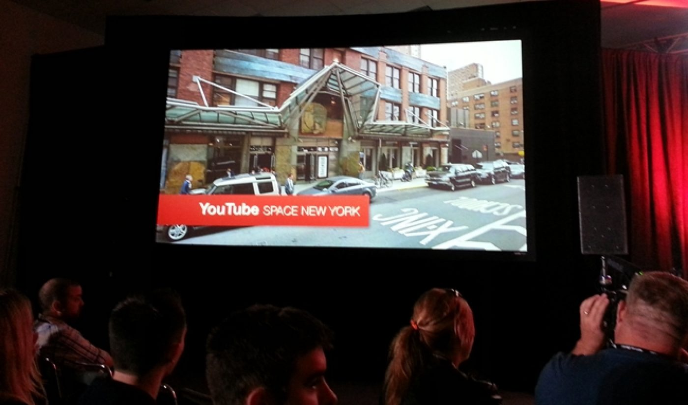 YouTube's Next Creator Space Will Open In New York In 2014