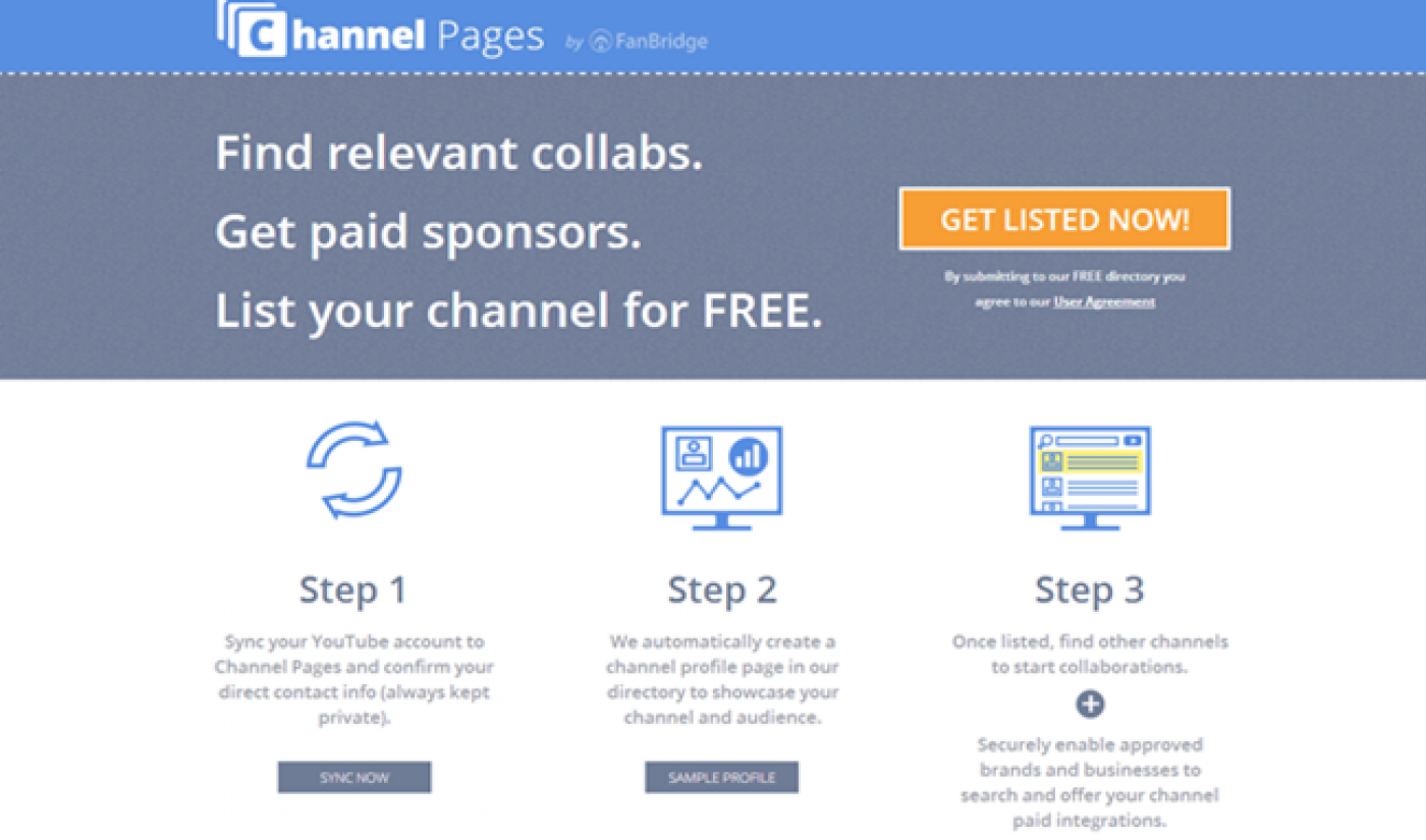 YouTubers Can Find Collaboration Partners With Channel Pages Service