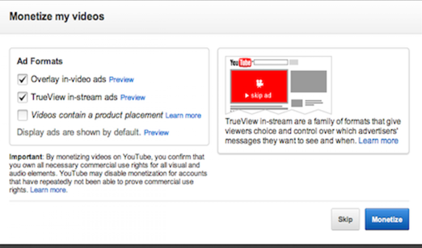 YouTube's MCN Affiliate Channels Will Be Subject To Monetization Review