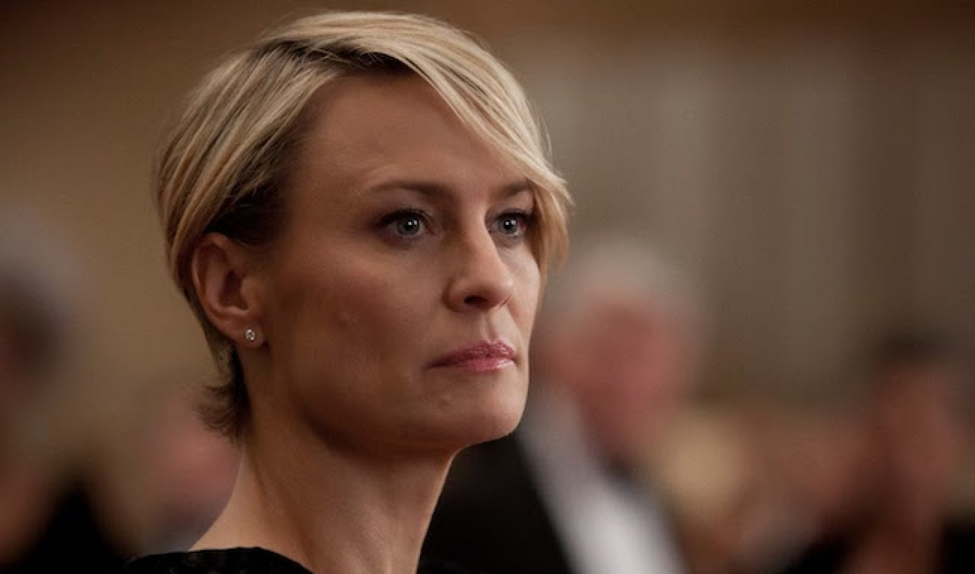 Netflix Gets A Golden Globe Win With Robin Wright For 'House of Cards'