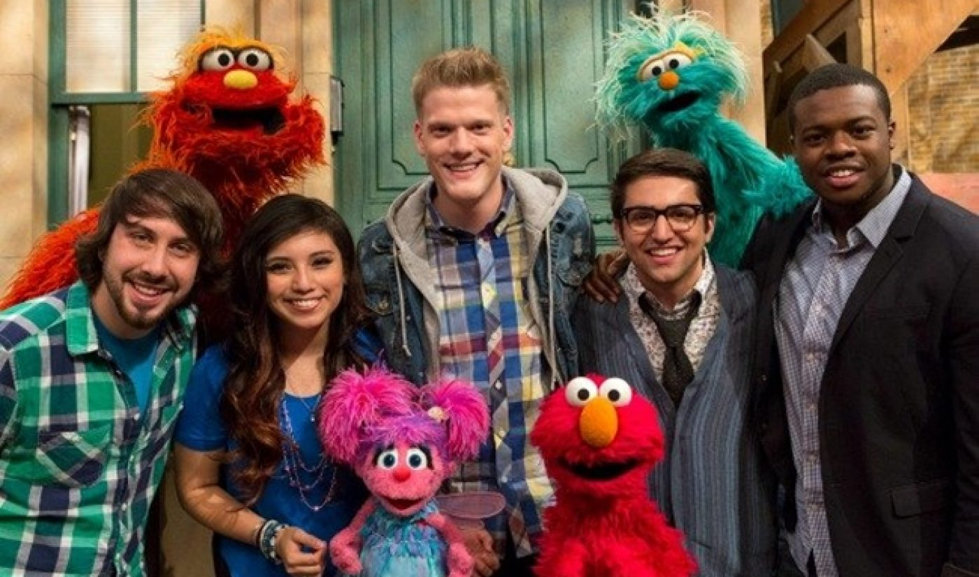 Pentatonix Goes To Sesame Street, Counts To Five In Perfect Harmony