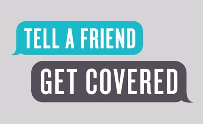 TELL A FRIEND - GET COVERED LOGO