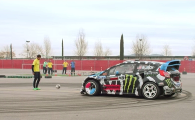 Ken Block Plays Gymkhana Soccer Against Neymar In Video For Castrol
