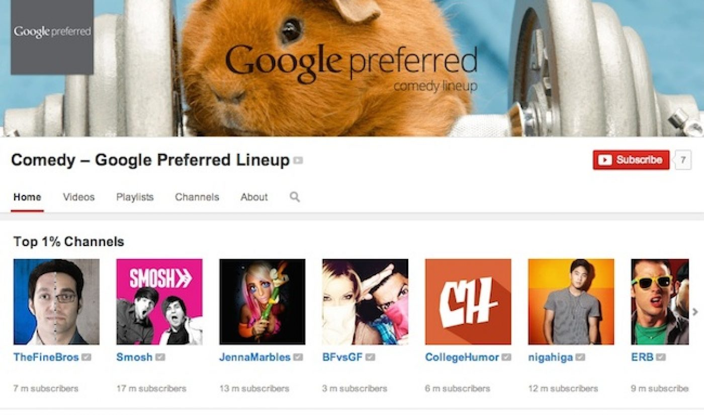 """Meet The Top 1% Of YouTube's """"Google Preferred"""" Channels For Advertisers (Exclusive)"""