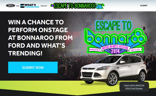 whats-trending-ford-escape-to-bonnaroo