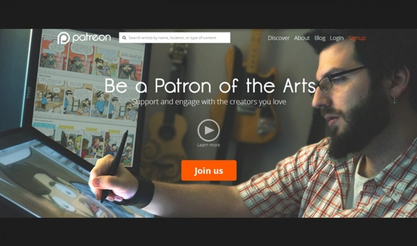 Patreon Raises $15 Million To Expand Its Crowdfunding Services