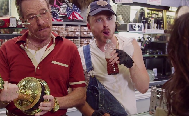Julia Louis-Dreyfus Pawns Her Emmy To Aaron Paul And Bryan Cranston In Promo by Bree Brouwer of Tubefilter