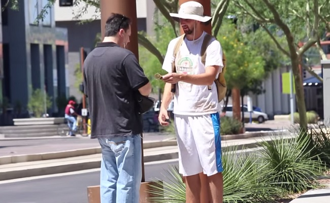 YouTube Prankster Pretends He's Homeless, Gives Back To Givers by Bree Brouwer of Tubefilter