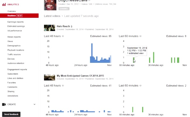 Minute-by-Minute Analytics Now Available On YouTube Dashboard