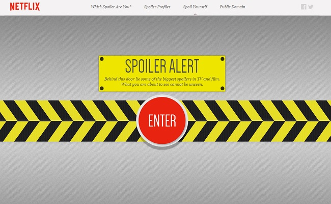 Netflix Encourages Fans To Delve Into The Taboo World Of Spoilers by Bree Brouwer of Tubefilter