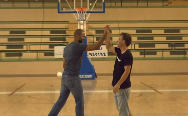 Rémi Gaillard Does Trick Shots With San Antonio Spurs' Tony Parker by Bree Brouwer of Tubefilter
