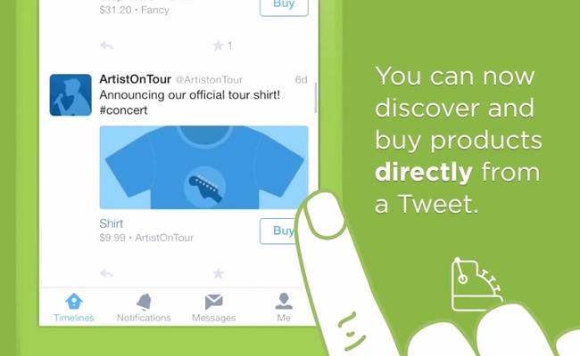 Twitter Tests Purchase Feature, Allows Some Users To Buy From Partners by Bree Brouwer of Tubefilter