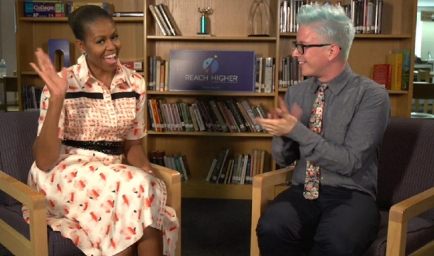 Tyler Oakley And Michelle Obama Chat About Higher Education